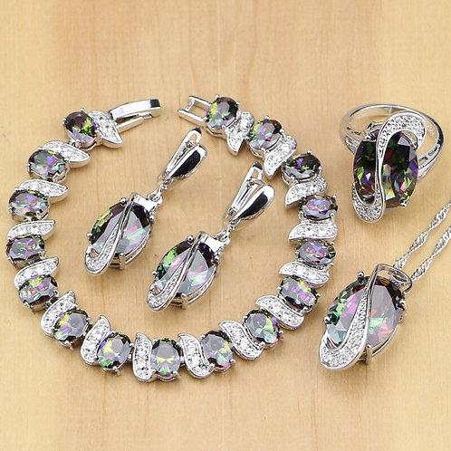 Cubic Zirconia Jewelry Sets Jewelry Earrings/Pendant/Necklace/Ring/Bracelet