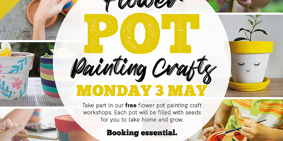 Spring Event: Plant pot painting