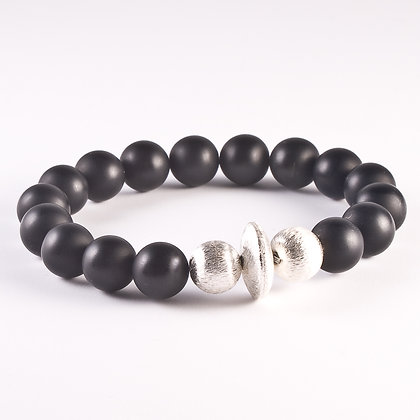 Black Agate Bonbon Bracelet