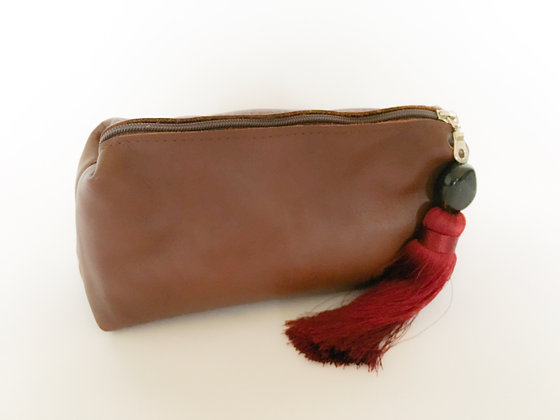 Conker Leather Clutch