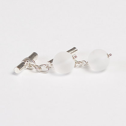 Crystal Quartz Cuff Links