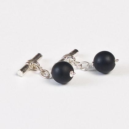 Black Agate Cuff Links