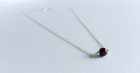 January Mini Birthstone Necklace