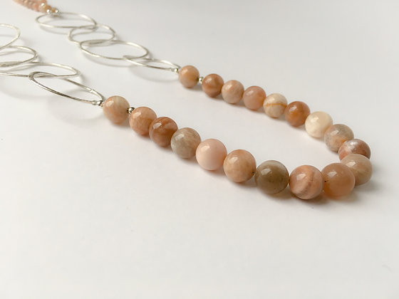 Mixed Media Necklace Sunstone