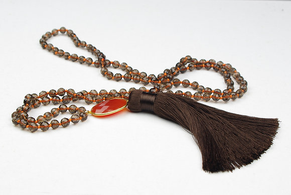 Atar Long Gem stone necklace