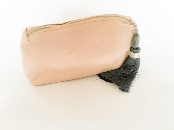 Nude Leather Clutch