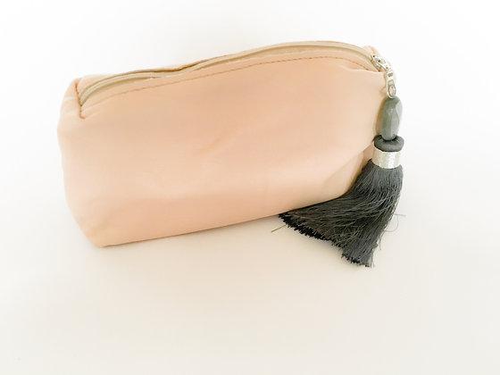 Nude Leather Clutch