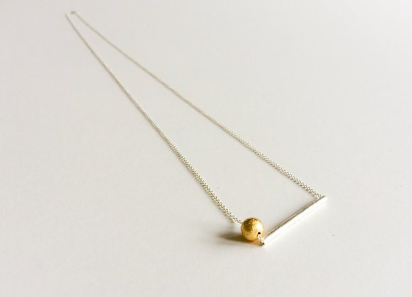 Geometric Line and Ball necklace