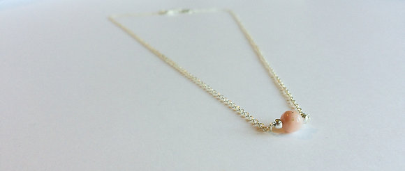 October Mini Birthstone Necklace