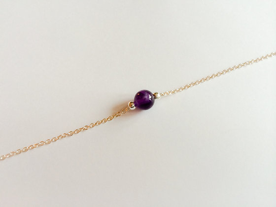 February Mini Birthstone Bracelet