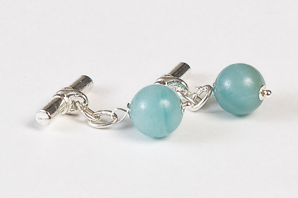 Amazonite Cuff Links