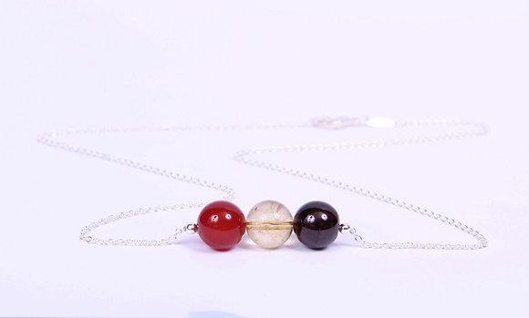 Triple Birthstone Necklace