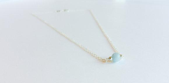 March Mini Birthstone Necklace