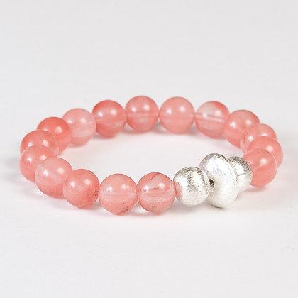 Cherry Quartz Bonbon Bracelet
