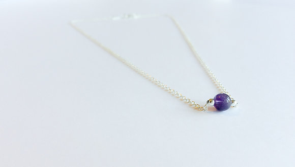 February Mini Birthstone Necklace