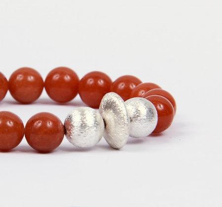 Red agate Bonbon Bracelet