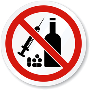 No to drugs and alcohol
