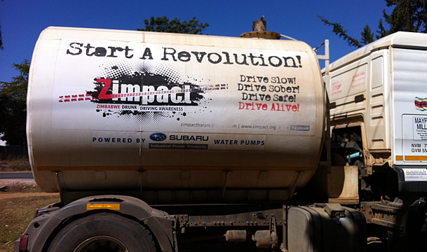 Zimpact vehicle advertising