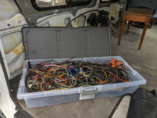 After complete strip down and removal of wiring to equipment that didn't exist...