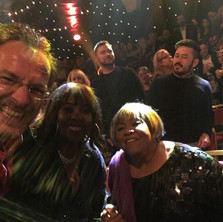 With Ruby Turner and Mavis Staples