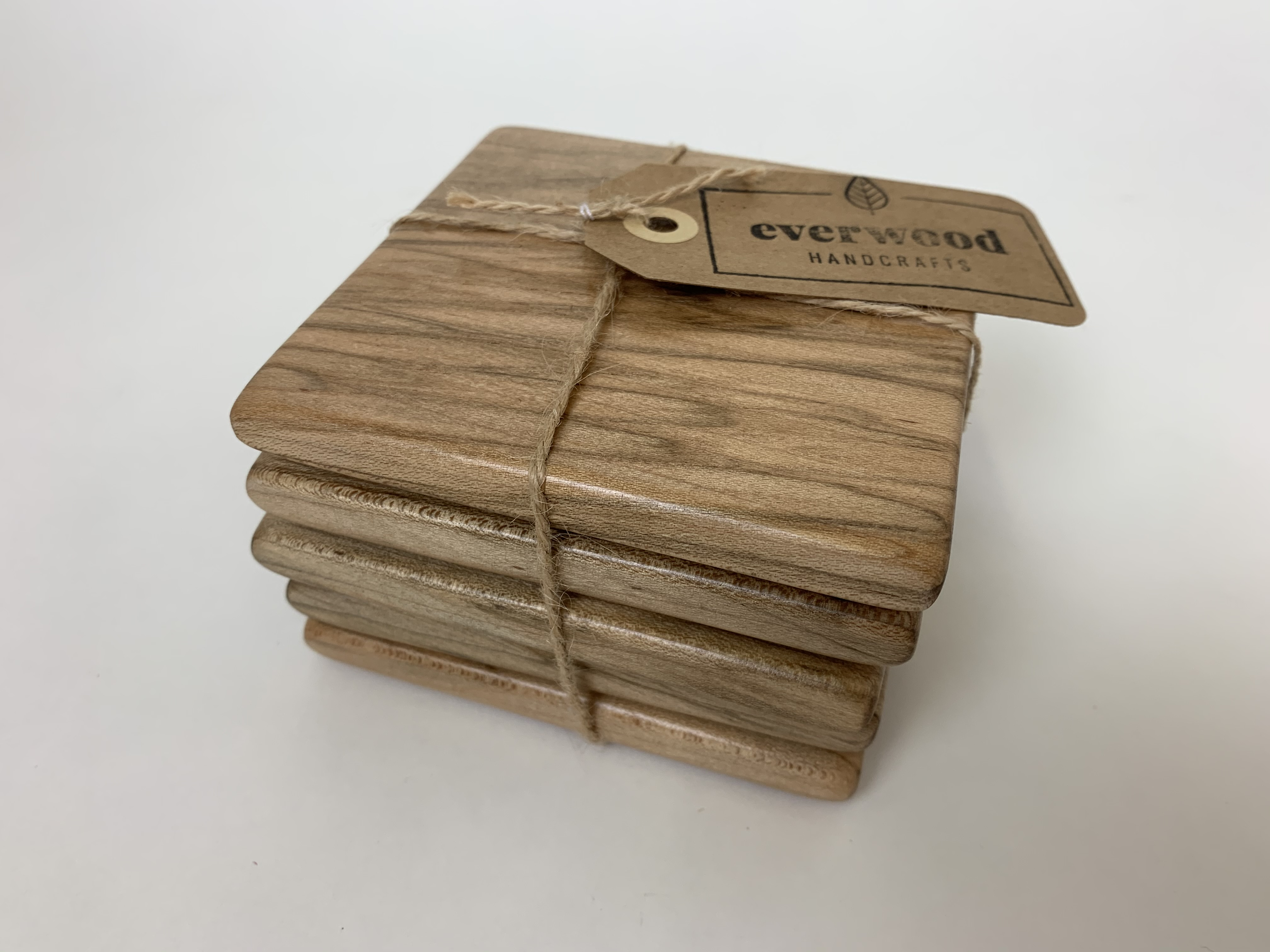 Wood Coasters set of 5