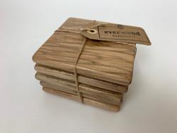 Wood Coasters set of 5