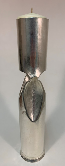 109c Silver Plated Candle Holder