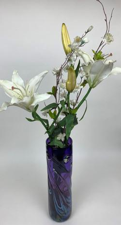 Lily Pad Purple Vase