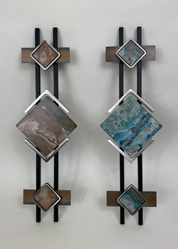 Wall Sculpture - Double Bars