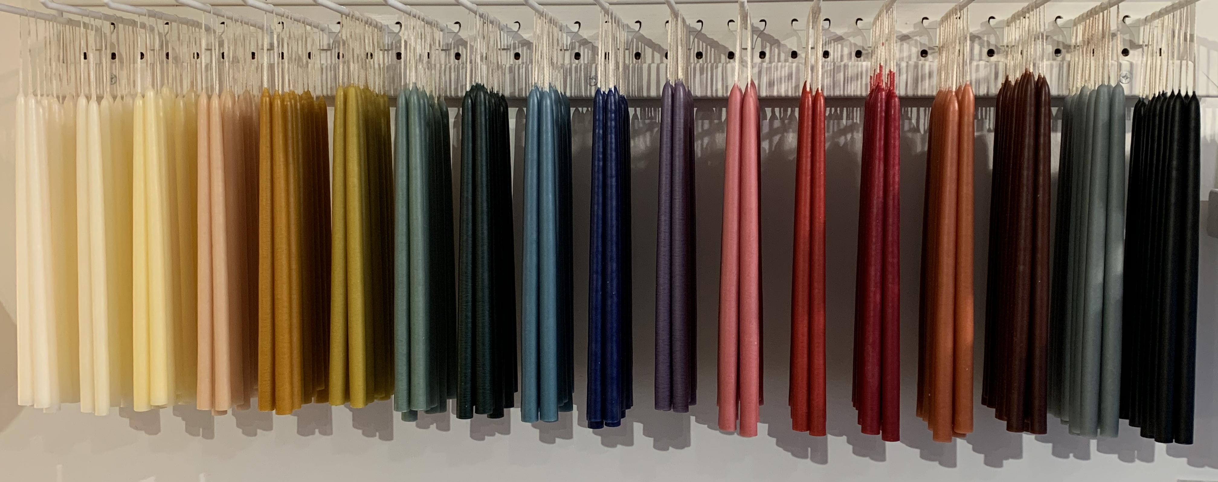 "1/2"" Slim Candles in 18 colors"