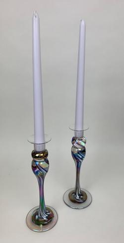 MargiGras Candlesticks