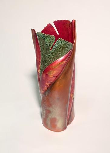 2 Leaf Ginkgo Vase
