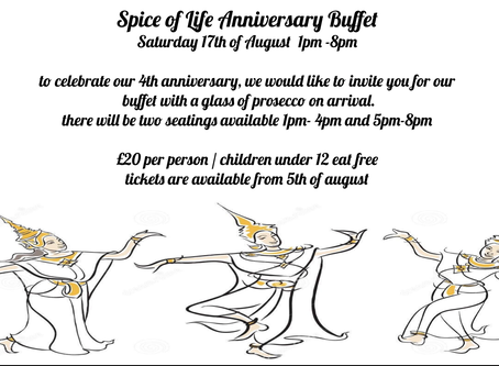 4th anniversary Buffet