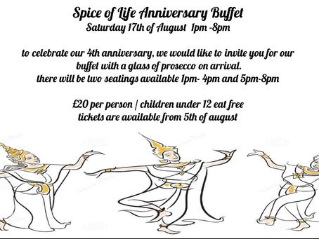 4th anniversary Buffet