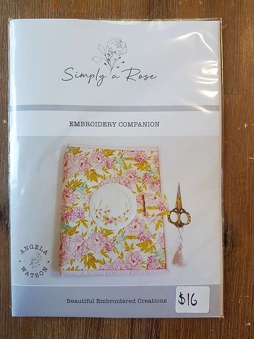 Simply a rose embroidery companion pattern