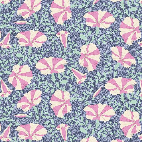 Tilda Garden Life / Striped-Petunia-Blue-Small