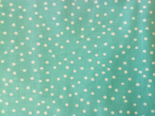 Lorailie Designs. Dinky Dots Turquoise/ White