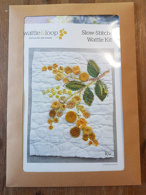 Wattle and Loop slow stitching kit