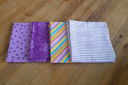 Fat quarters bundle purple