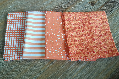 Fat quarters bundle orange