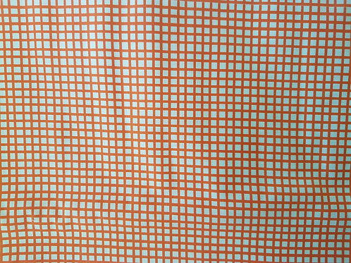 Lorailie Designs. Chipper check Orange.