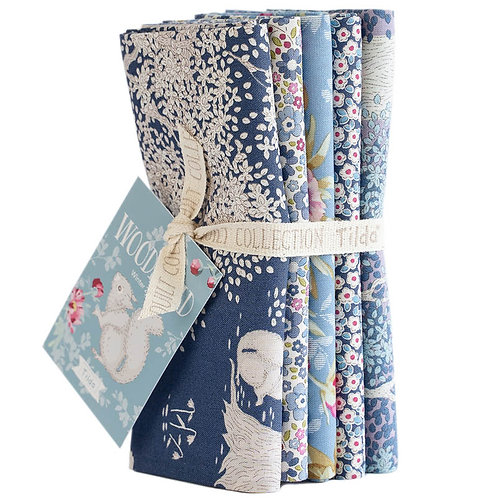 Woodlands Fat Quarter Bundle Blue