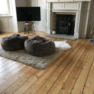Floor sanding Northumberland- Victorian pine standard lacquer
