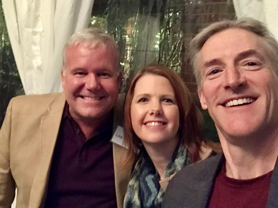 Dr. Lee Berger, Lyn Lindbergh, and Erik Lindbergh in Seattle, WA.