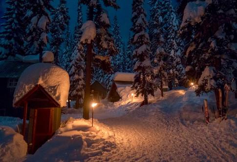 High Camp at night