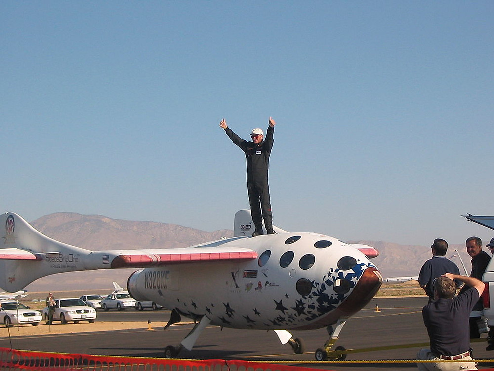 Mike Melleville and SpaceShip ONE.
