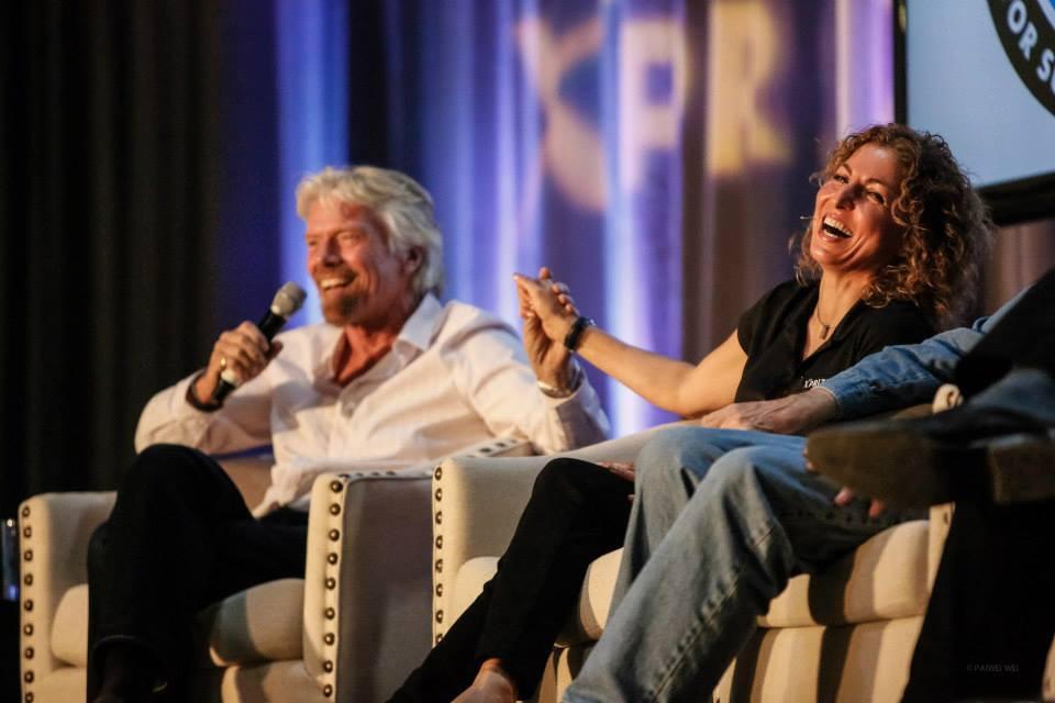 Richard Branson and Anousheh Ansari at the XPRIZE 10 year anniversary of the Ansari XPRIZE.