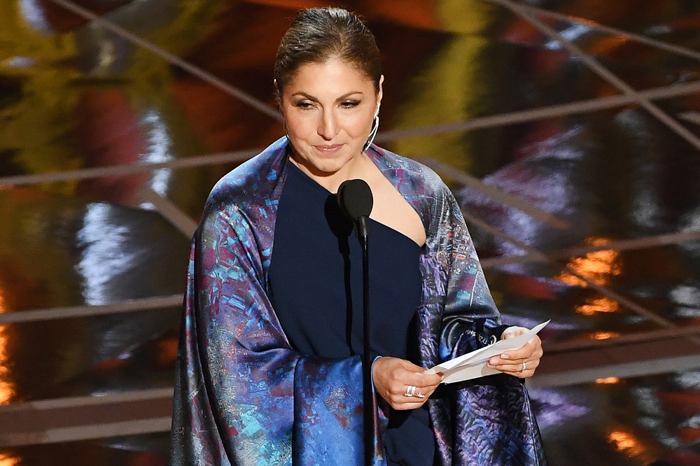 "Anousheh Ansari accepted an Oscar for ""The Salesman,"" Best Foreign Language Film, on behalf of Iranian director Asghar Farhadi."