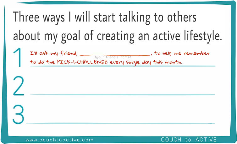 create an active life. adding fitness. exercising. starting to exercise. Lyn Lindbergh. COUCH to ACTIVE.