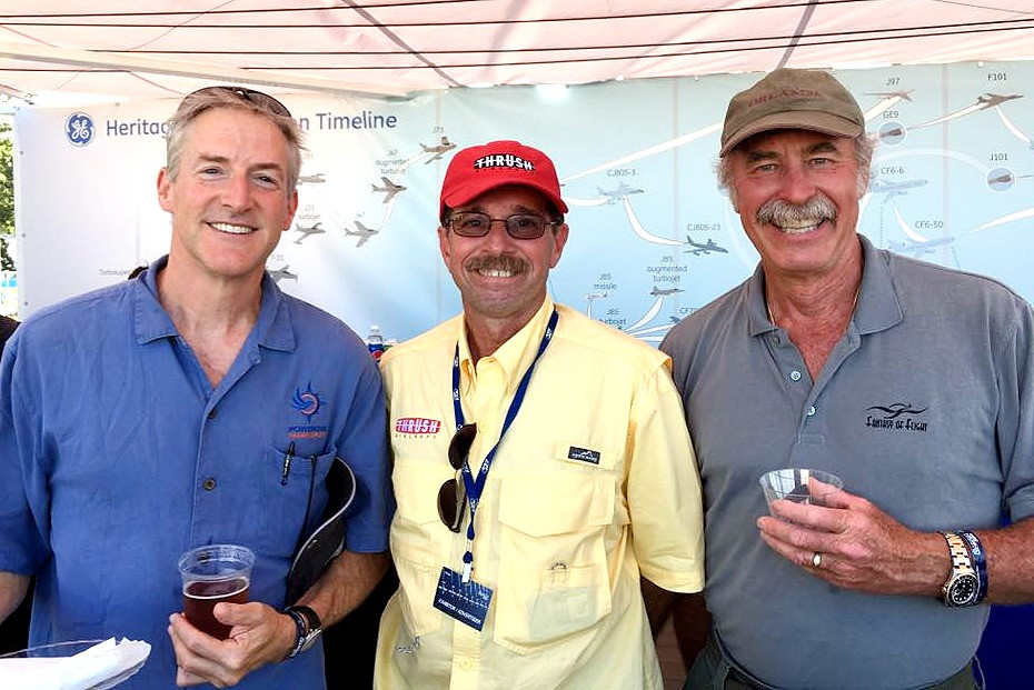 Erik Lindbergh, Mike Cochran, and Kermet Weeks. Oshkosh AirVenture 2016.